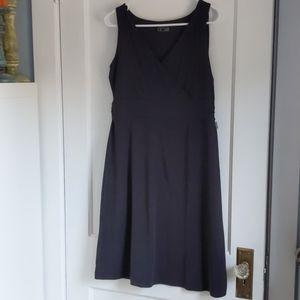 Black cotton stretchy dress
